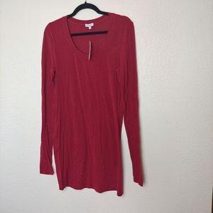 NWT Splendid Red Striped Tunic Top Size XL